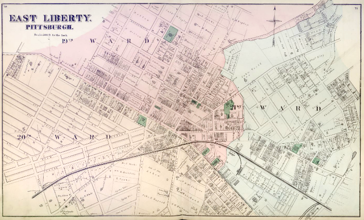 Hopkins' Map of East Liberty, 1872