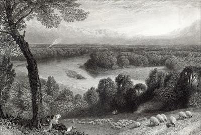 The Thames from Richmond Hill by Foster, circa 1880