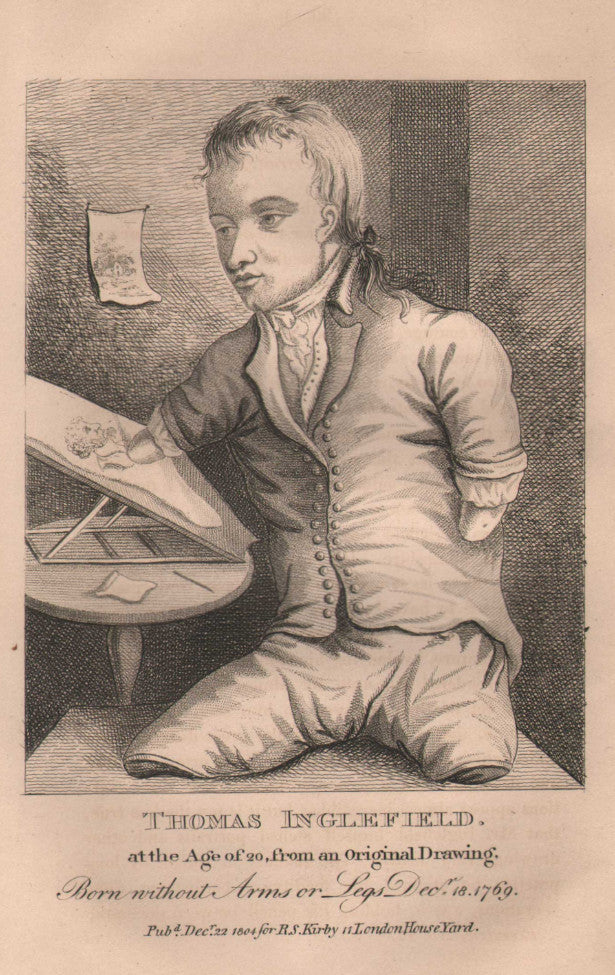 """Thomas Inglefield"" from the 1820 edition of Kirby's Wonderful and Eccentric Museum"