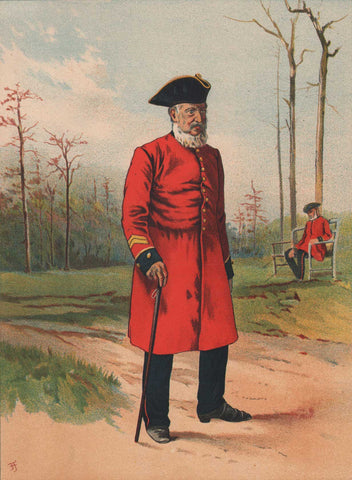 A Chelsea Pensioner by Feller, 1890