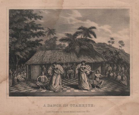 A Dance in Otaheite by Sherwin, circa 1785