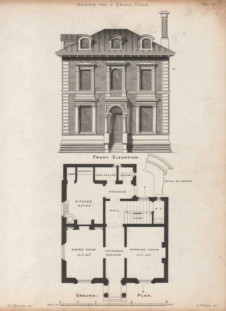 Design for a Small Villa by Tarbuck, circa 1860
