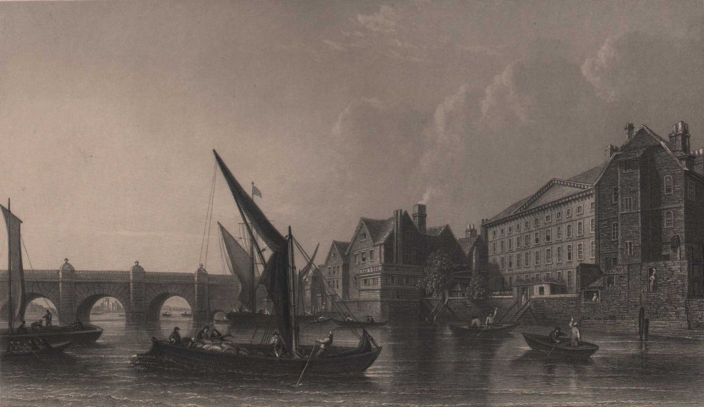Westminster Bridge 1745 by Scott, circa 1850