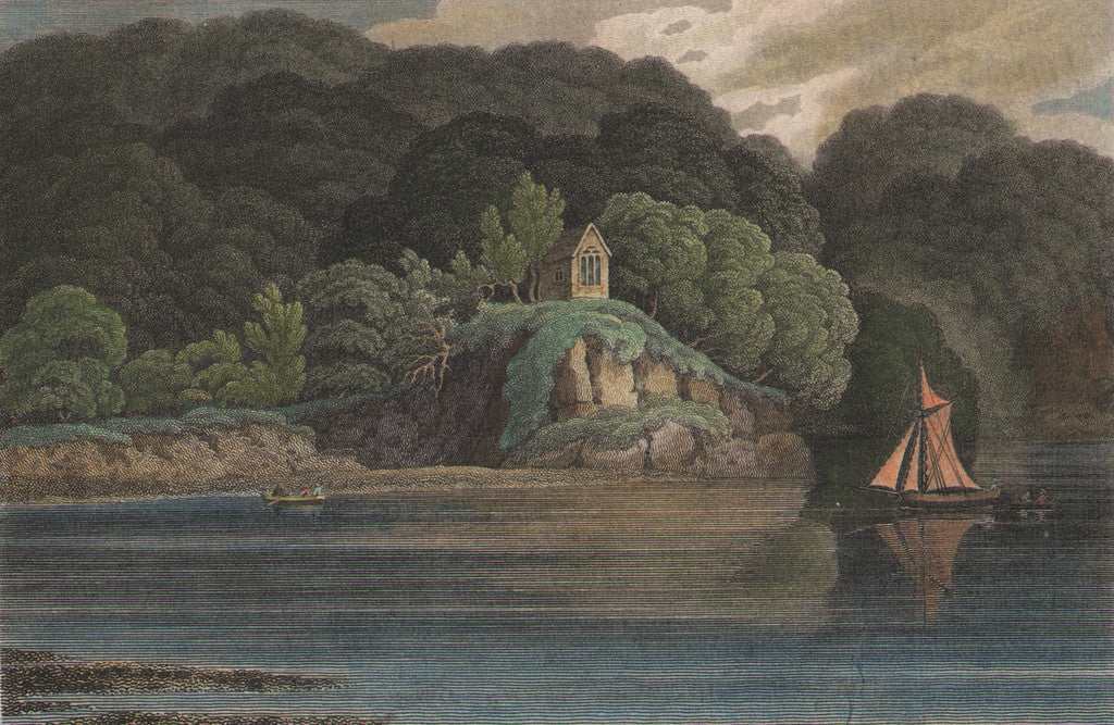 Cotele Chapel, on the River Tamar by Prout, 1809