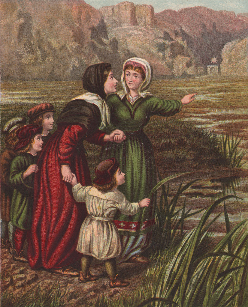 Christiana and Mercy at the Slough of Despond