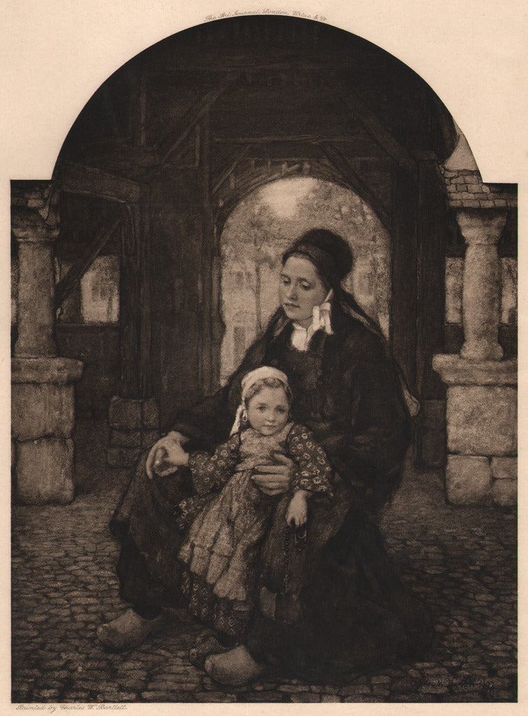 Mother & Child, Brittany by Bartlett, 1907