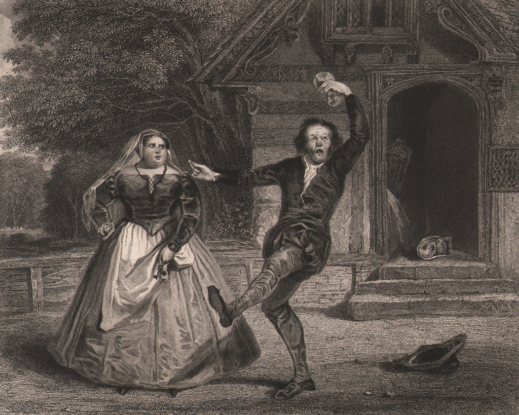 Christopher Sly & the Hostess by Nash, 1834