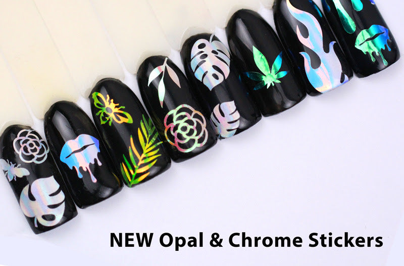 OPAL & CHROME STICKERS - WHATS UP NAILS