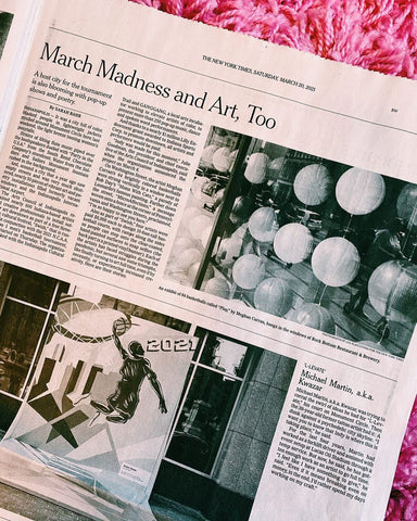 Meghan Curran Art featured in New York Times