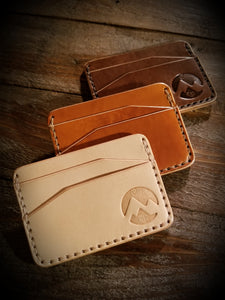 Dillon minimalist wallet vegetable tanned
