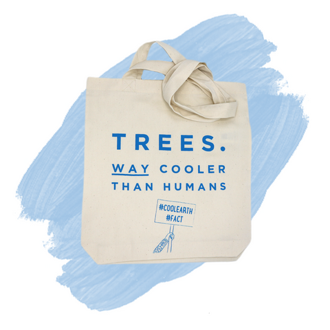 Reusable Tote Bag 'Cool Trees'