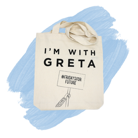 Reusable Tote Bag 'I'm with Greta'