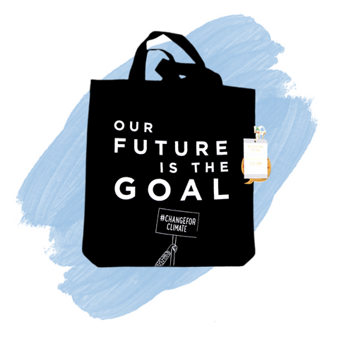 Reusable Tote Bag 'Our Future is the Goal'