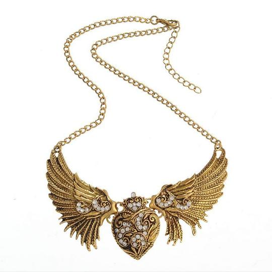 Antique Heart Wings Necklace - 35% Off!