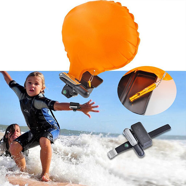 Inflatable wrist strap Wearable Wristband Water Safety Wrist Life Buoy Escape Lifesaving wristband Self Rescue Bracelet