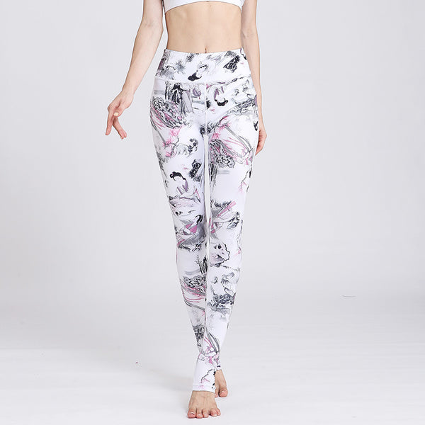 New Yoga Pants in Europe and America in 2019【Printing】【Quick-drying】【Self-cultivation】