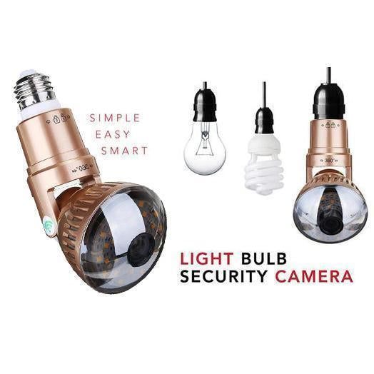 Bulb network camera - 360 panorama WiFi Fish-Eye Spy Hidden camera