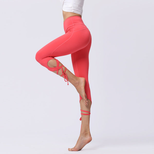 New European and American fashion Yoga Pants【Sweat absorption】【Hip lifting】【Bandage】