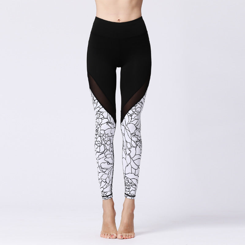 2019 New Fast-drying Digital Printed Yoga Pants in Europe and America