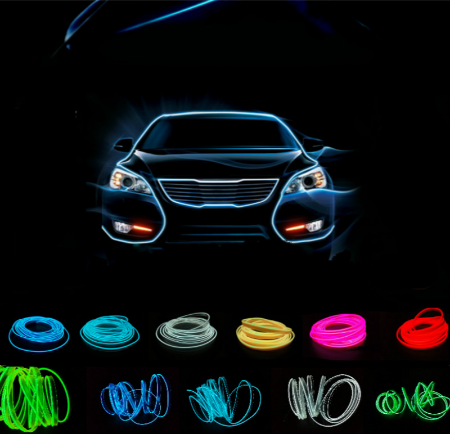 5M Led car light flexible neon tube El line