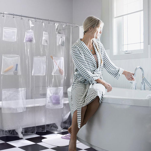 Bath Organizer Shower Curtain
