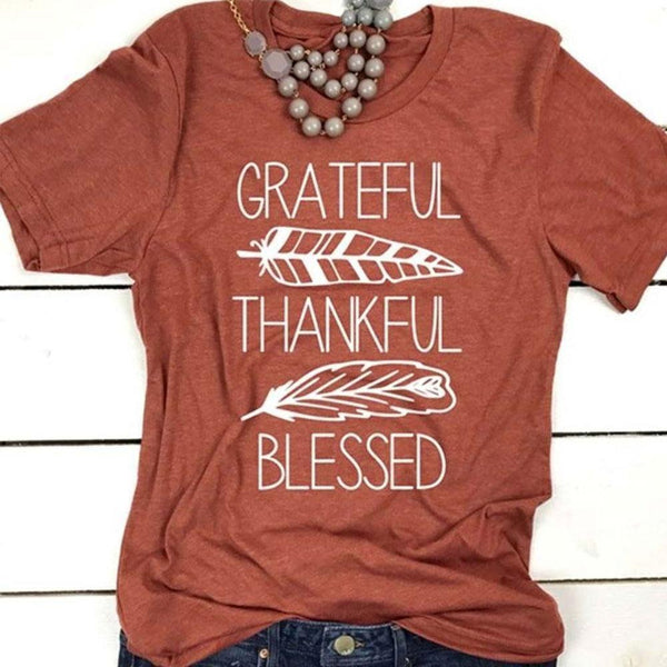 Grateful Thankful Blessed [T-Shirt] - Inspire Uplift