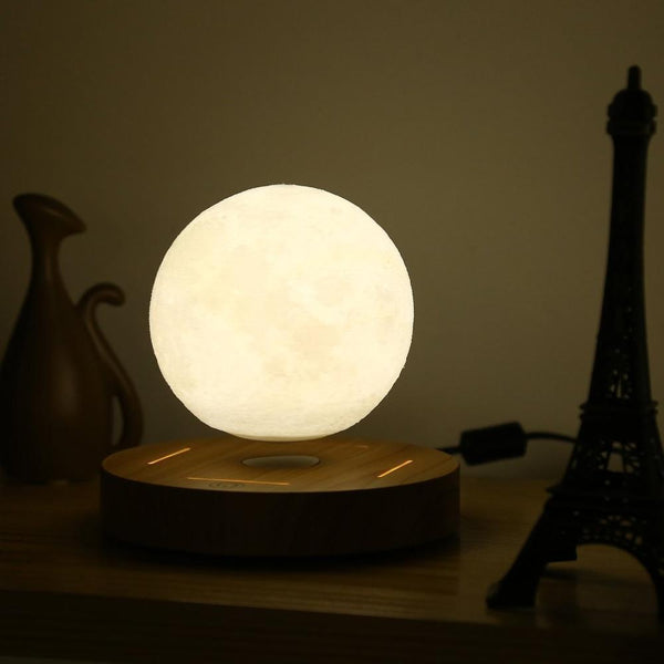 Bring Outer Space to Your Bedroom with a Levitating Moon Lamp