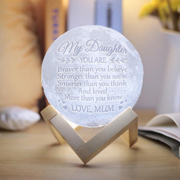 Mum Daughter - Brave & Smart Moon Lamp