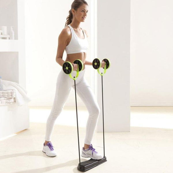 Double-Wheel AB Roller Fitness Apparatus
