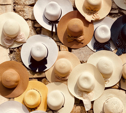 Sunhats in different skin tones