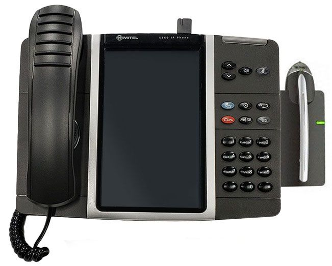 Mitel 5360 IP Phone with Mitel Cordless Headset - Refurbished