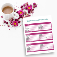 Debit and Credit Card Info Tracker