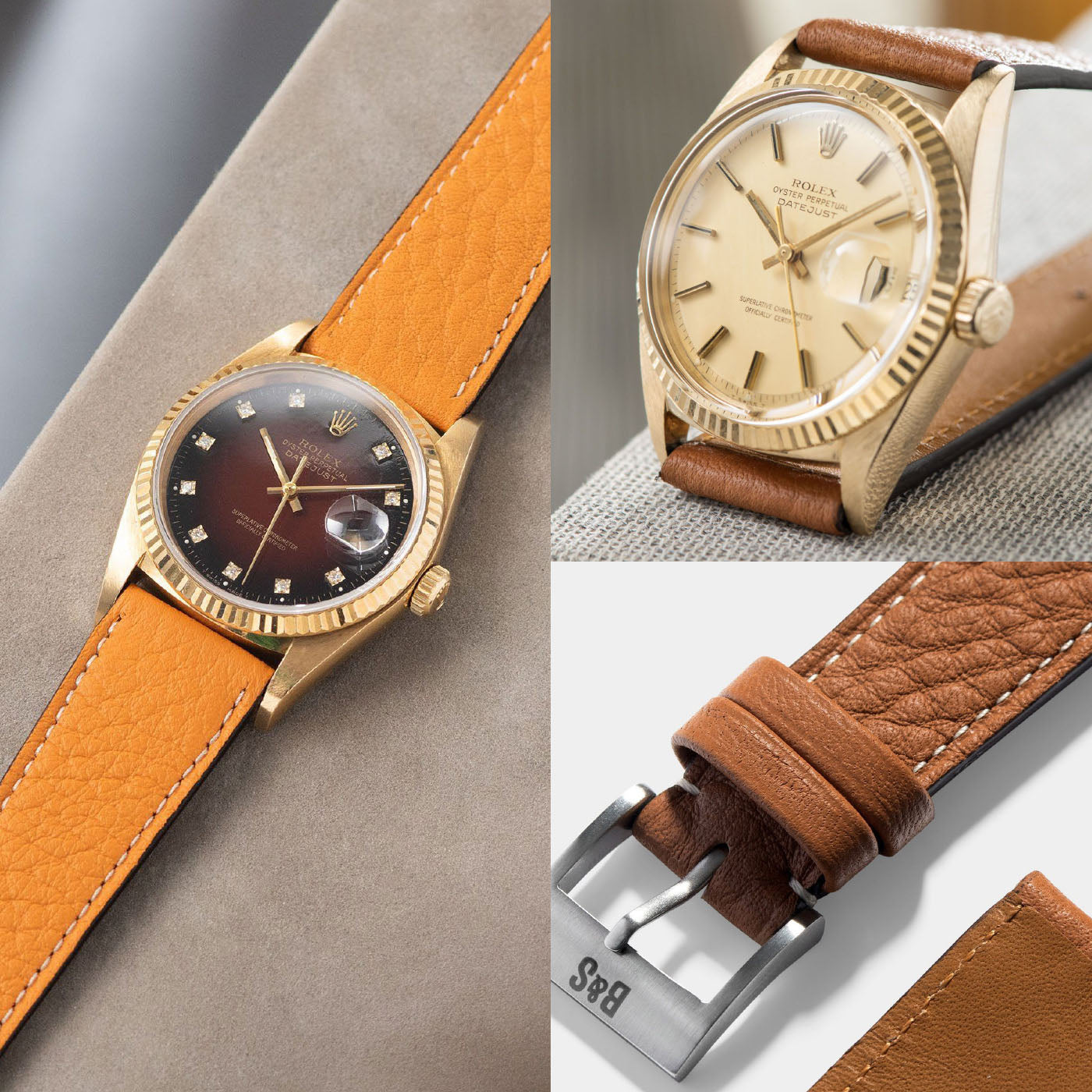Bulang and Sons Taurillon Strap on Rolex Datejust and Patek Anual Callendar
