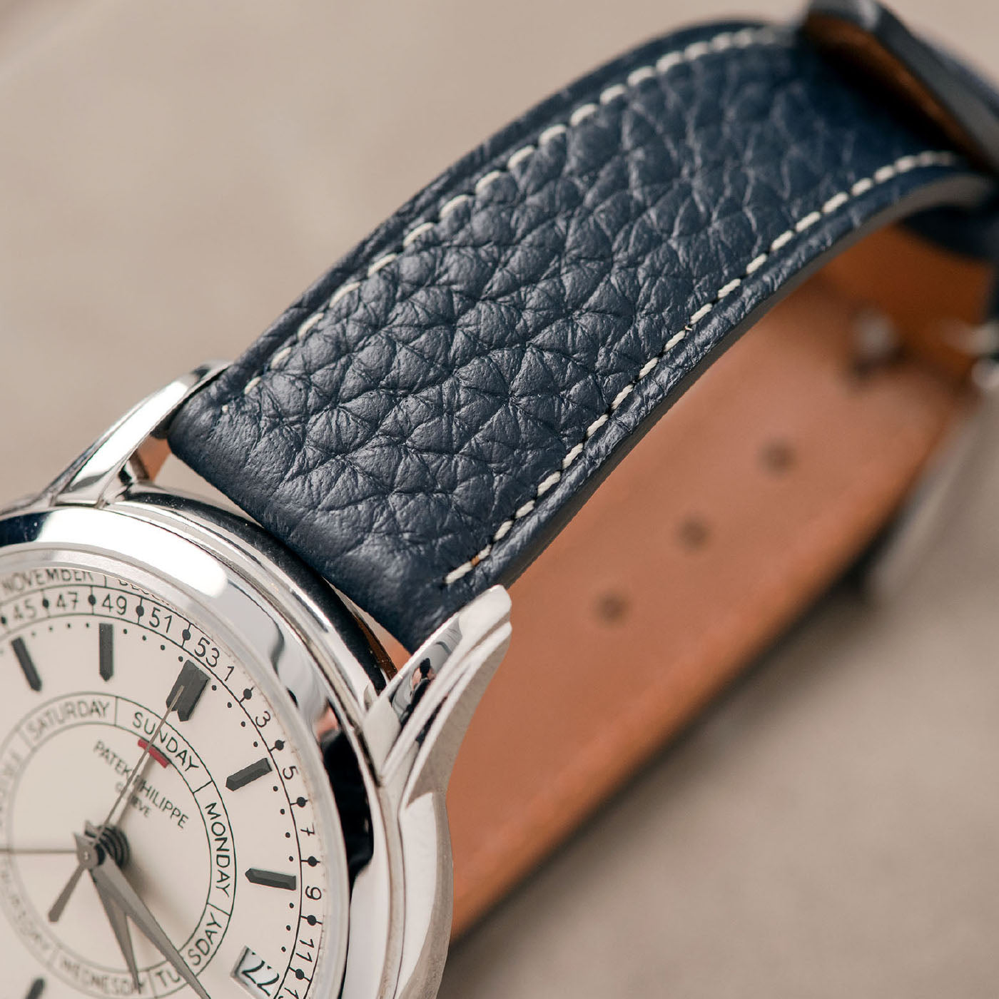 Bulang and Sons Taurillon Strap on Patek Philippe  Steel Annuel Calenar