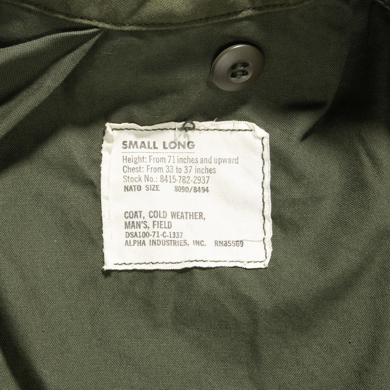 1971 Vintage M-65 Field Jacket Fits Medium Long