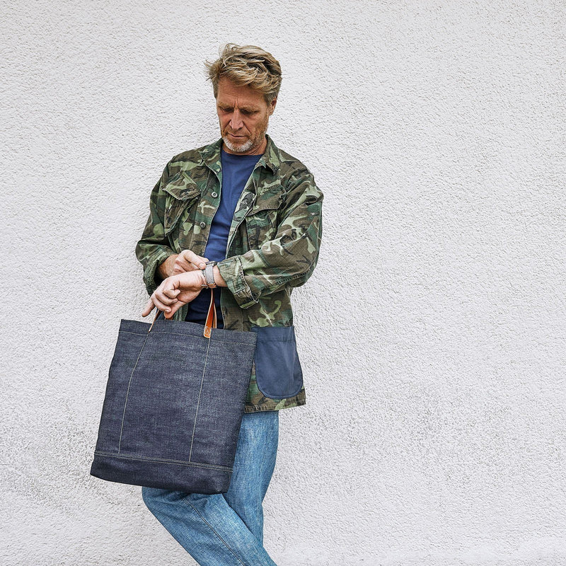 Custom Japanese Selvage Denim Tote Bag Camo Edt.