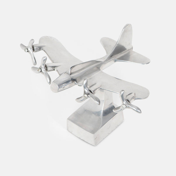 Vintage Art Deco B-17 Flying Fortress Aluminum Airplane Desk Model