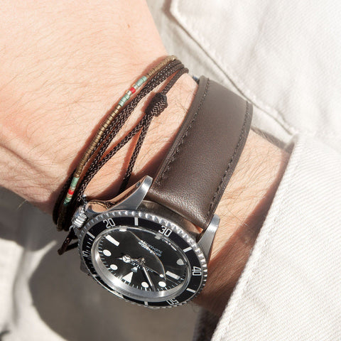 Antique Brown Leather Watch Strap