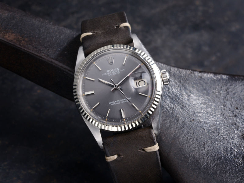ROLEX 1601 DATEJUST GREY DIAL