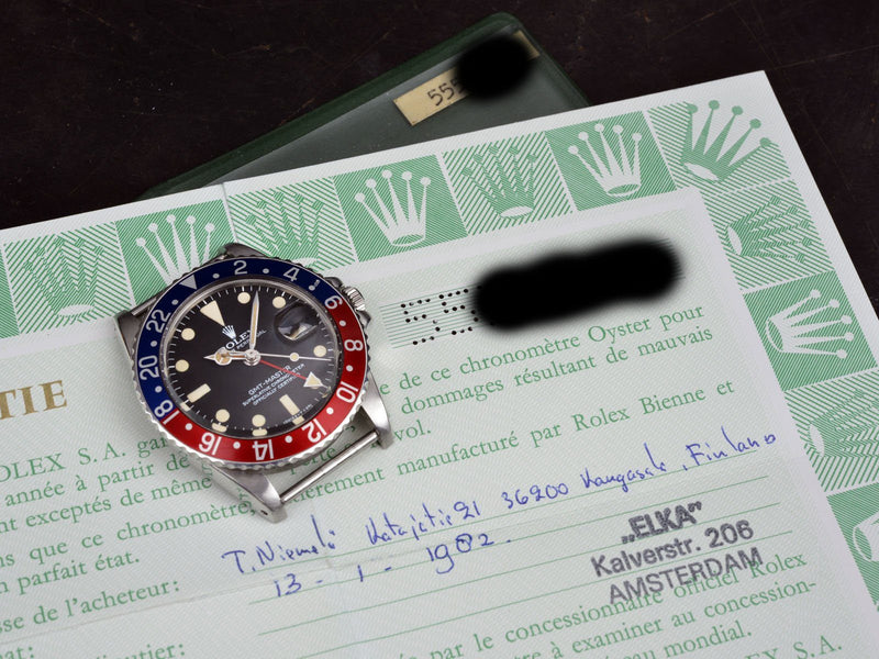CURATED ROLEX 1675 GMT MAXI DIAL WITH PAPERS