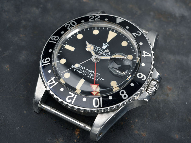 ROLEX ALL RED HAND 1675 MAXI GMT