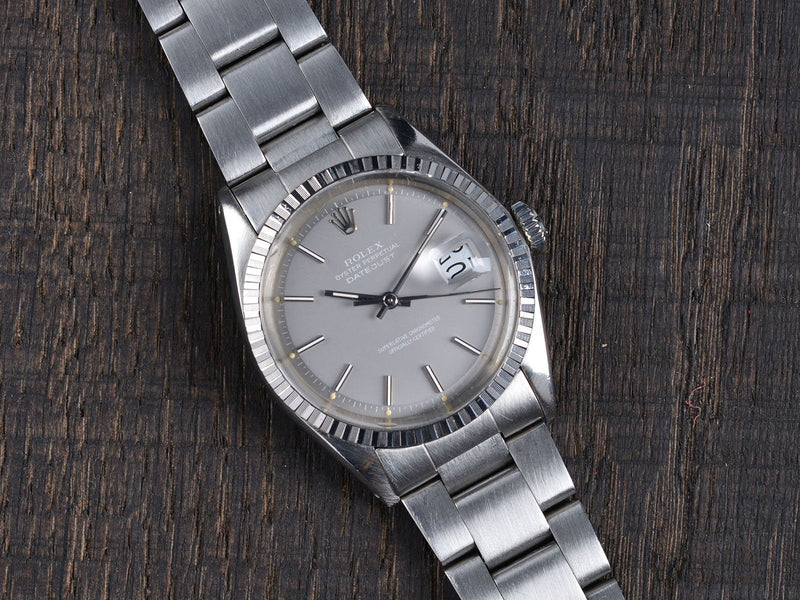 ROLEX 1603 DATEJUST GHOST GREY DIAL