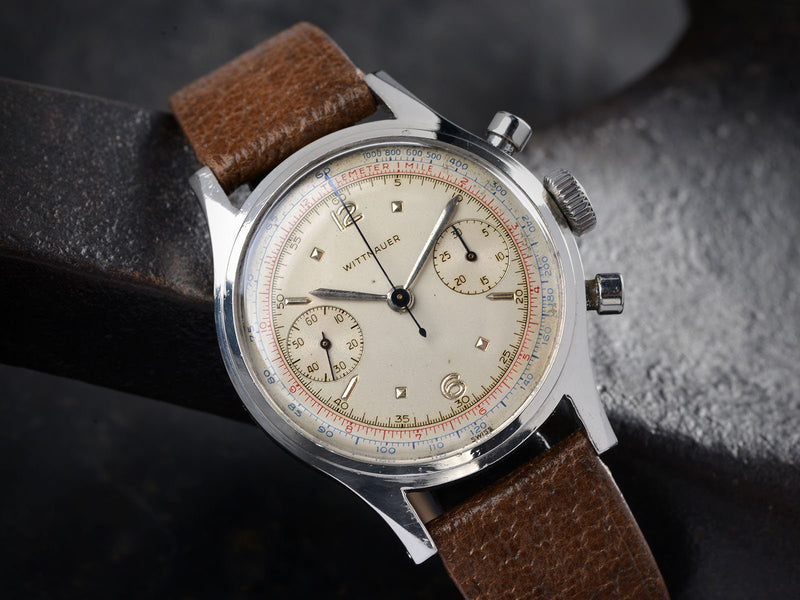 1950S WITTNAUER STEEL CHRONOGRAPH
