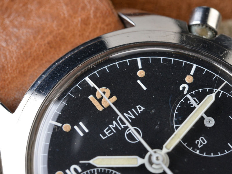 LEMANIA MILITARY 6BB ROYAL RAF SINGLE BUTTON CHRONOGRAPH WATCH