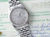 ROLEX 1603 DATEJUST GREY DIAL + PAPERS