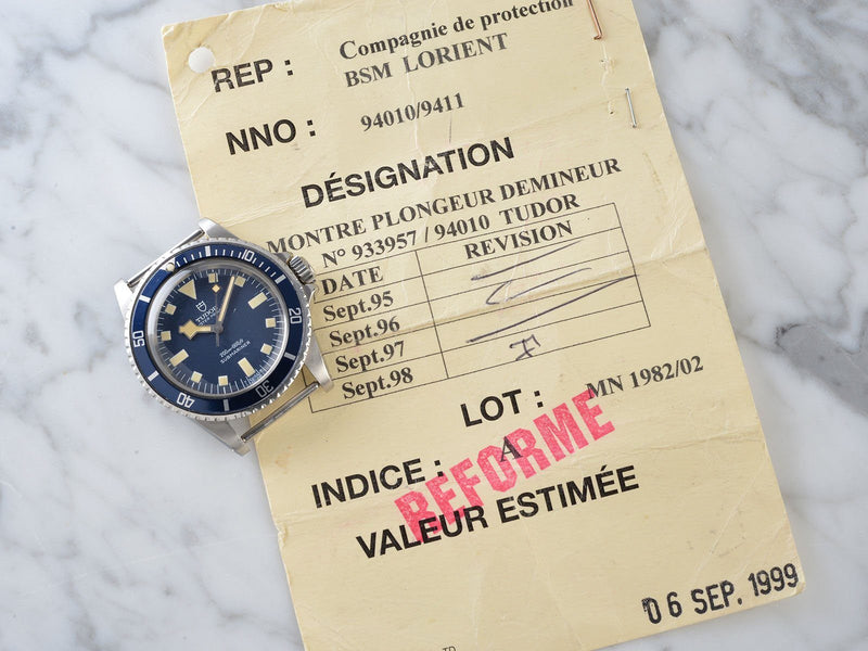 TUDOR MN 94010 SNOWFLAKE WITH DECOM PAPERS 1982