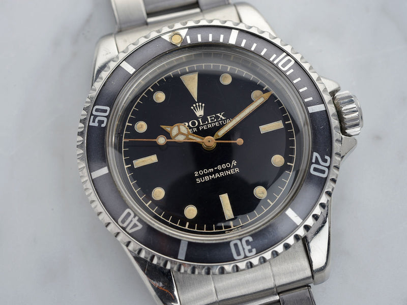 ROLEX 5512 PCG GILT CHAPTER RING EXCLAMATION POINT SUBMARINER
