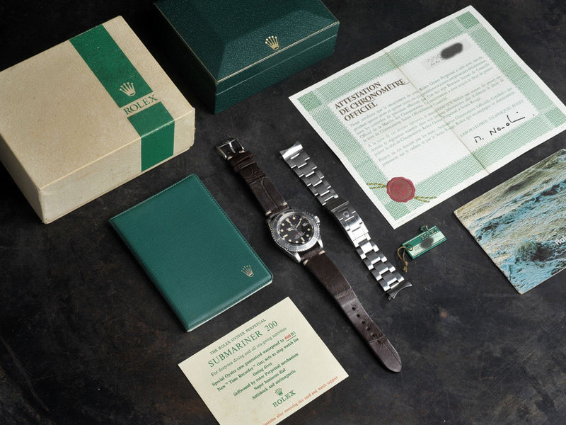CURATED ROLEX 1680 MT.'S FIRST REDSUB B+P