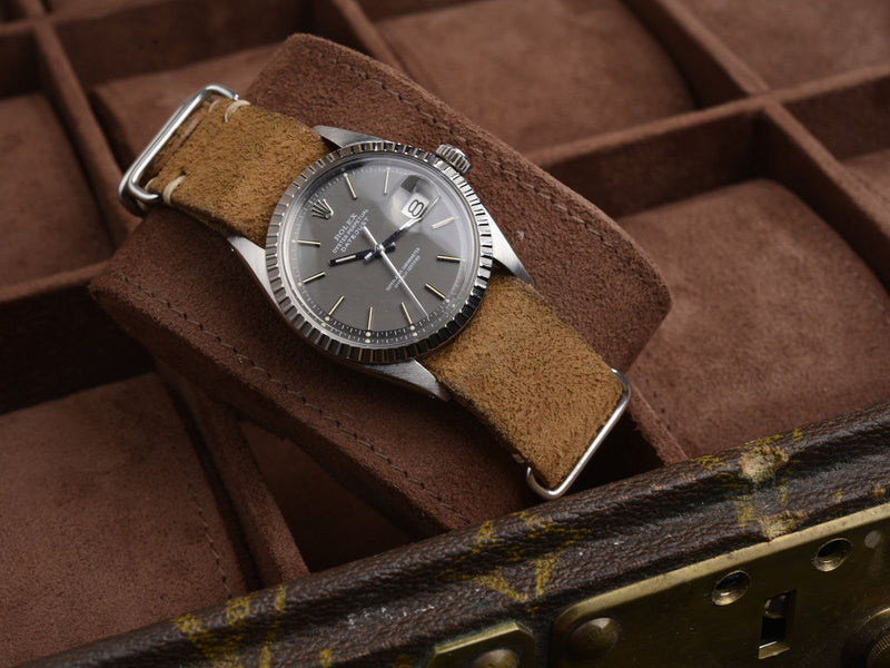 CURATED ROLEX DATEJUST 1600 SHADES OF GREY AND BROWN
