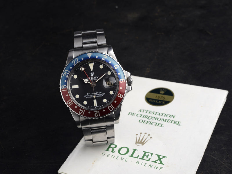 ROLEX 1675 BOX AND PAPERS